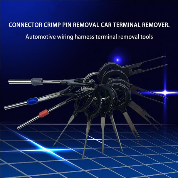 11pcs Car Terminal Removal Tool Wiring Connector Extractor Release Pin