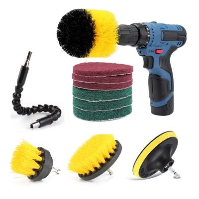 11pcs Drill Brush Scouring Pad Flexible Shaft Attachments for Kitchen ..
