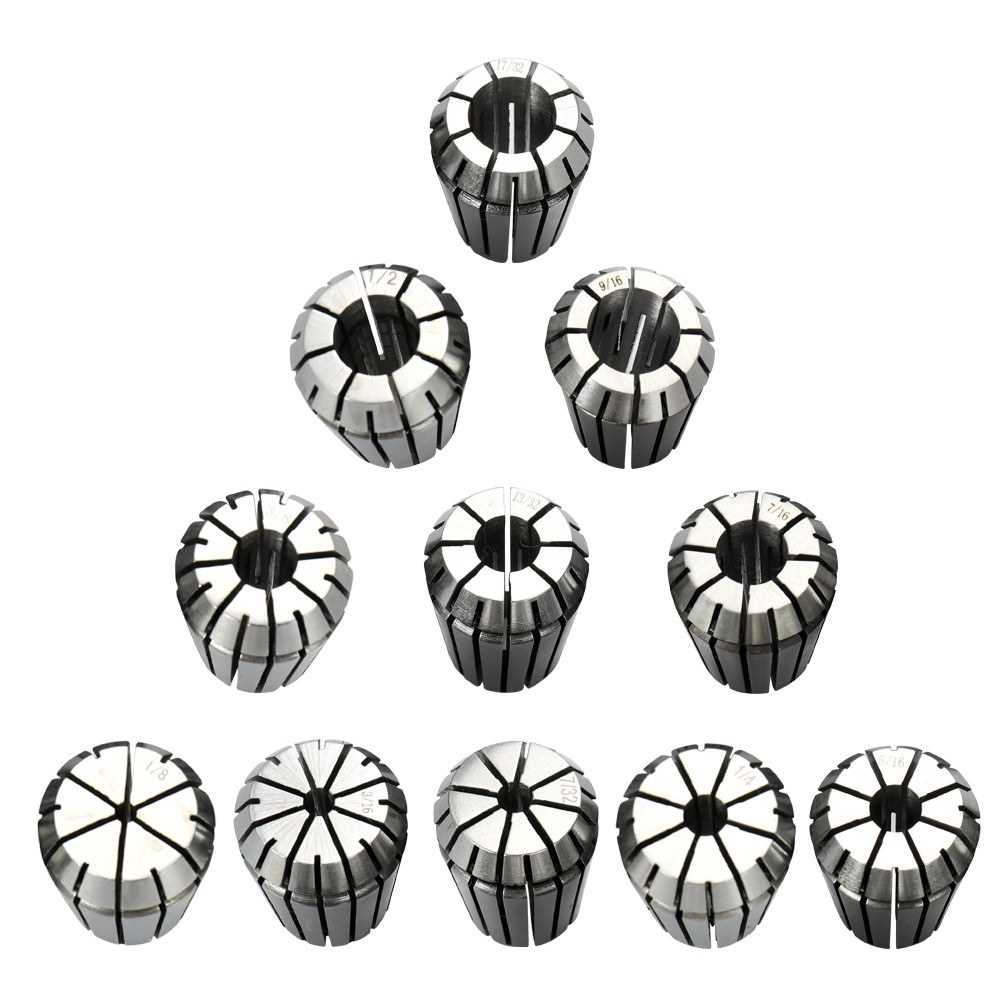 11pcs Precision Spring Collet Set Professional Chuck Collets for CNC Workholdi