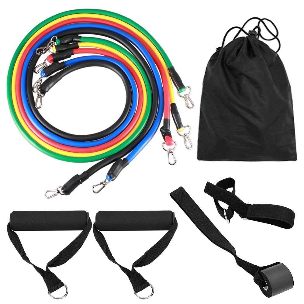 11pcs Resistance Bands Set Workout Fintess Exercise Tube Bands Door