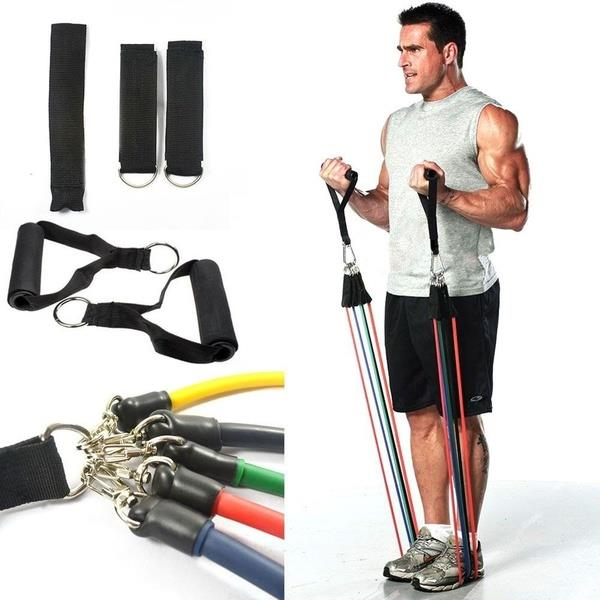 11Pcs Resistance Exercise Band Elast (end 5/17/2018 9:15 PM