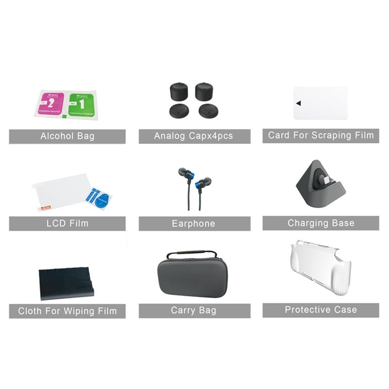 12 In 1 Super Kit with Protective Bag Case Charging Base Kit