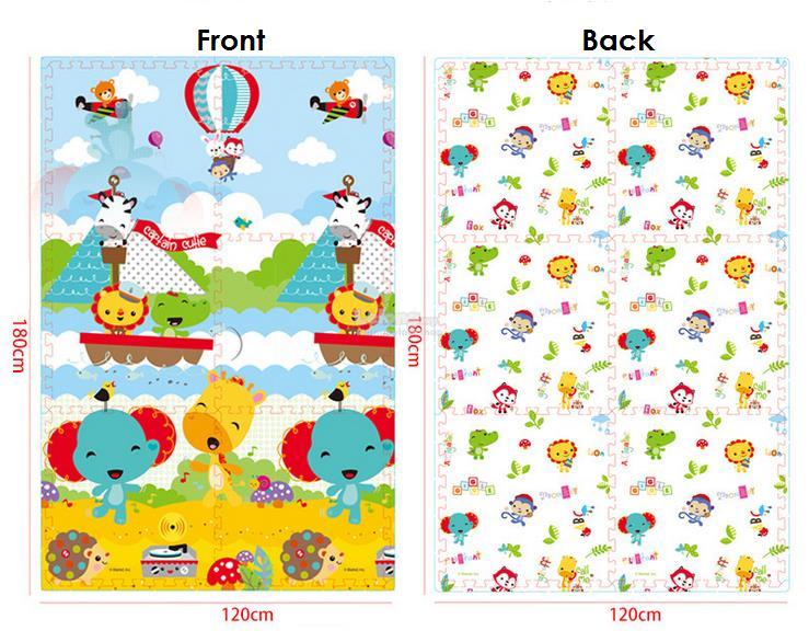 12+2 Rainbow Play Yard PWP Fisher-Price High Quality XPE Foam Mat