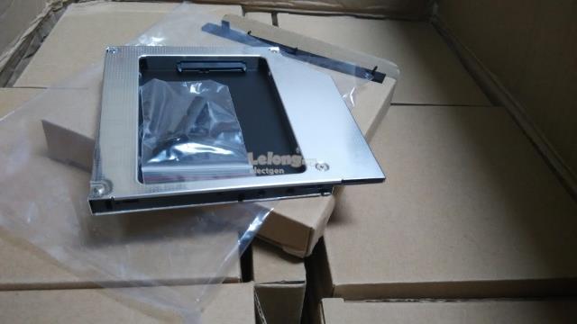 12 7 9 5 Laptop 2nd HDD SSD Caddy 2 5 inch Sata Hard Disk Aluminium