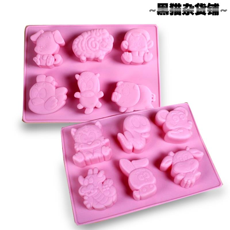 12 Chinese Zodiac (2 mold in 1set) Silicone Baking /Soap mould