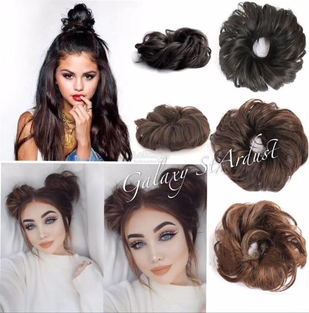 12 Color-Hair Bun Curly Wave-Messy Scrunchie-Synthetic Wig Chignon