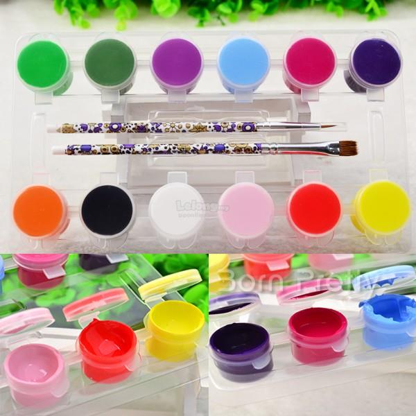 12 Colors 3D Nail Art Acrylic Paint (end 6/28/2018 8:15 PM)
