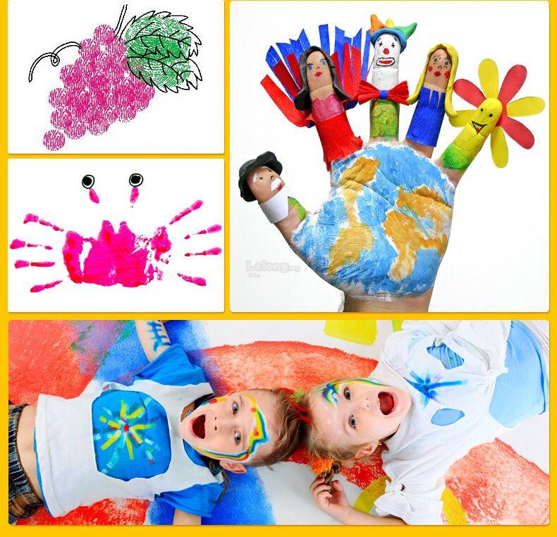 12 Colors Finger Paint Washable Non-toxic Kids Toddlers Children Craft