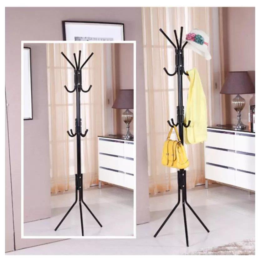 12 Hook Hanging Pole Rack Clothes H (end 7/20/2020 11:34 PM