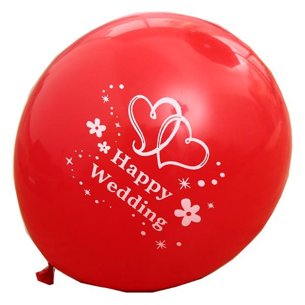 12 inch Balloon Red Happy Wedding Balloons