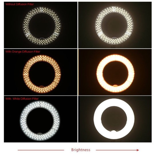 12-Inch LED Ring Light - Dimmable - Medium - With Stand