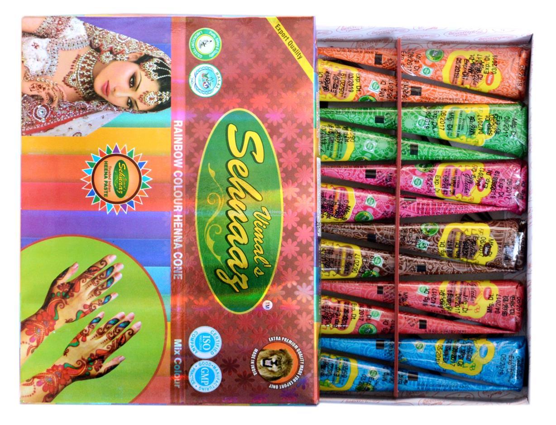 12 Pcs Golecha Multi Color Henna Co End 2 25 2020 12 15 Am