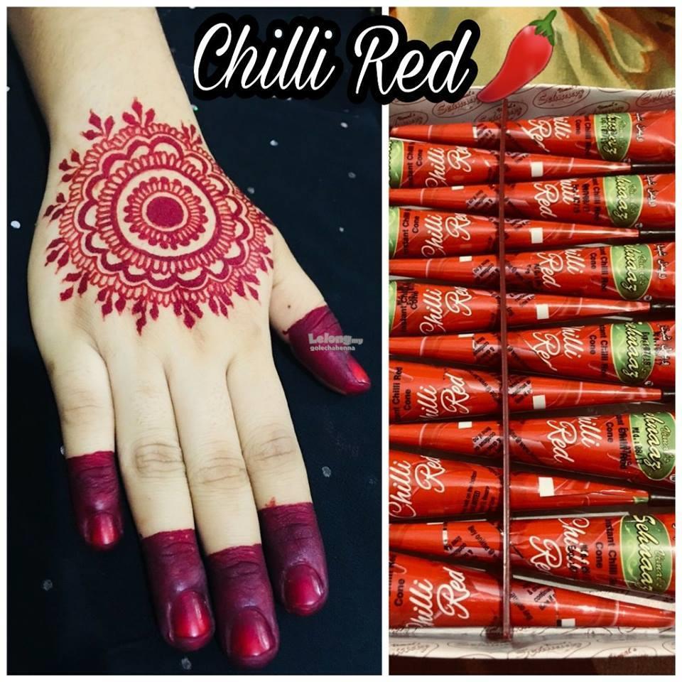 Best Henna Cones: Golecha Henna Cone Cherry Merah 12 Pcs