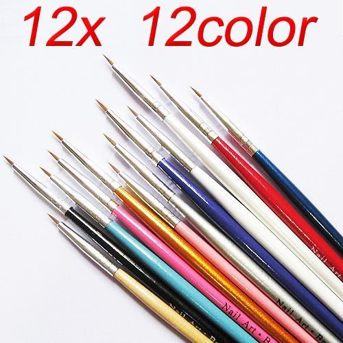 12 Pcs Nail Art Design Brush Pen Fo End 7222019 1215 Am
