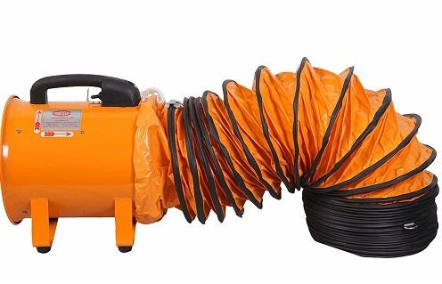 12'' Portable Ventilator Fan Blower with 12'' Flexible Ducting Hose 5M