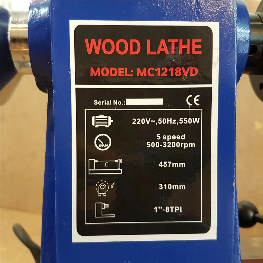 12' x 18' Mini Wood Lathe Machine 550W ID31371