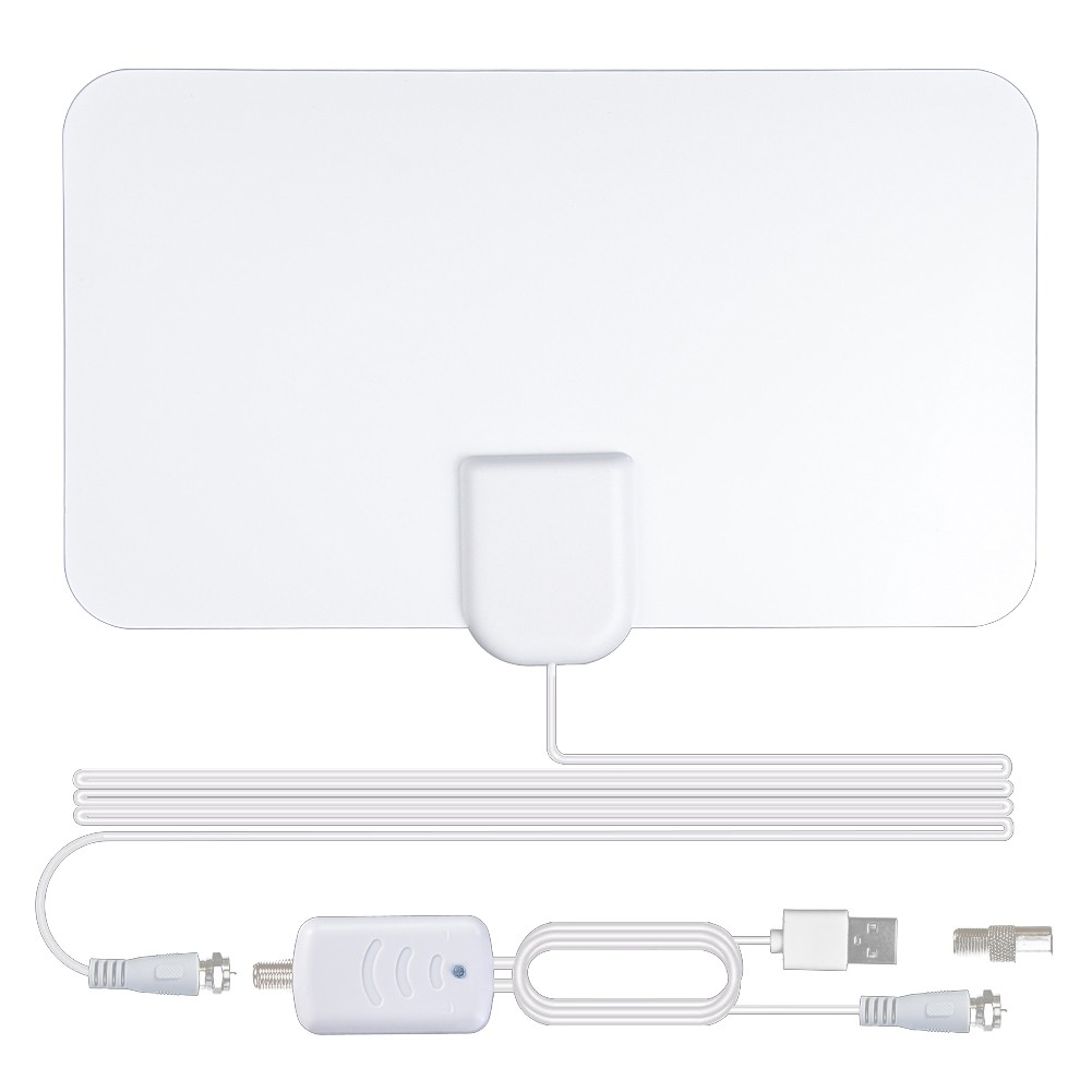 1200 Miles White MINI Hd Indoor dgtl 4k/hdtv Antenna - [BLACK]
