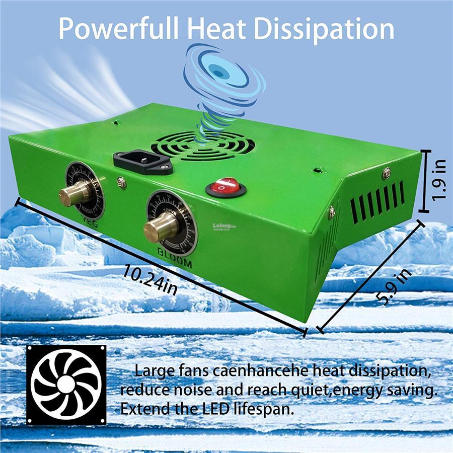 NEW 1200W LED Plant Grow Light COB Full Spectrum VEG BLOOM Hydroponic