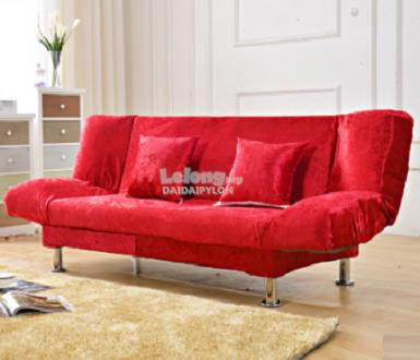 120cm RED sofa double seater 2 seat bed house merah chair office