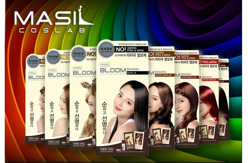 120g Korea Masil Coslab Bloom Season Style Cacao Hair Dye Color Cream