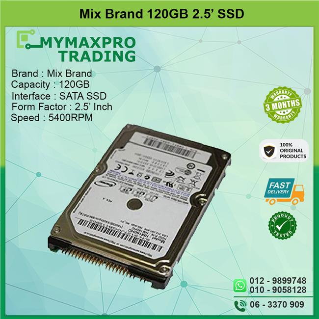 120GB SATA 2.5' Laptop Hard Drive Notebook Replace 80GB 160GB HDD