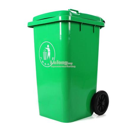 120L Bin Green Dustbin Garbage Trash