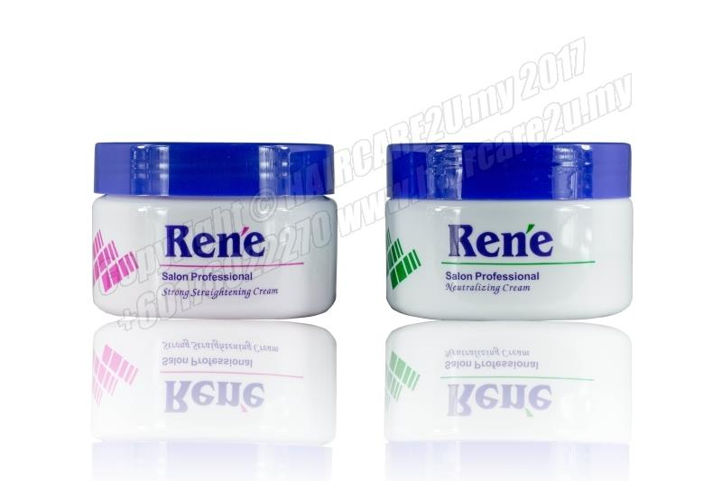 120ml Rene Hair Strong Straightening Cream + Neutralizer Cream