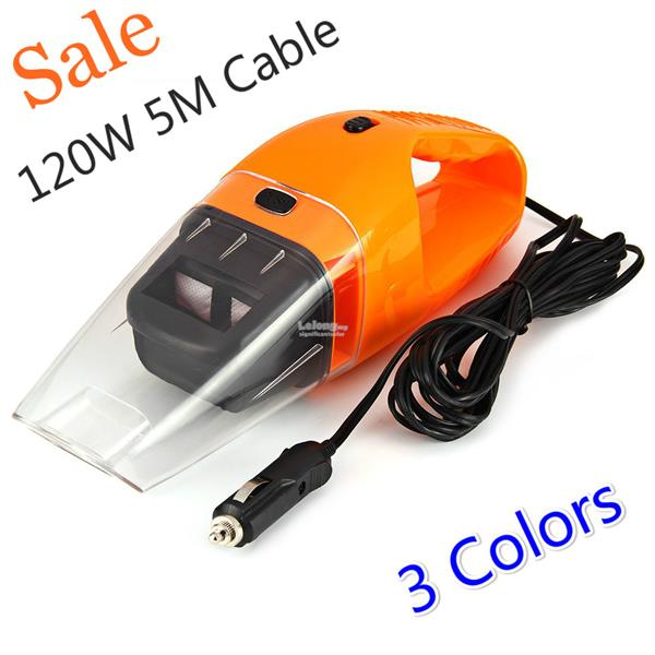 120W Portable Car Vacuum Cleaner Wet and Dry 5m Cable