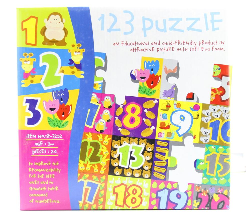 123 Number Puzzle & Number Learning 24pcs TY150009