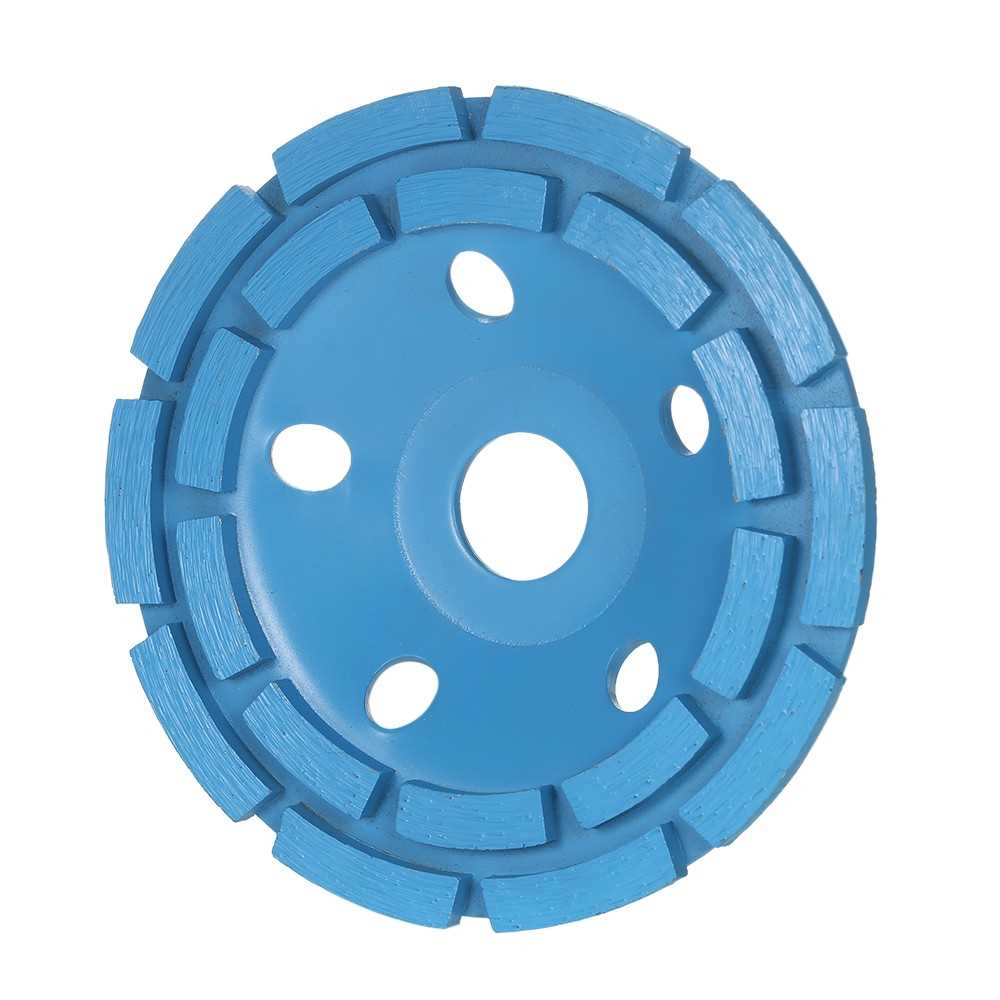 "125mm 5 "" Diamond 2 Row Segment Grinding Wheel Disc Bowl Shape Grinder Cu"