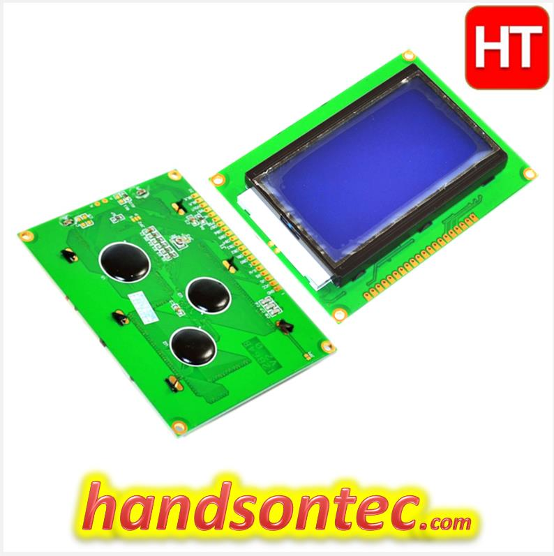 128×64 Dots Graphic LCD Module – Blue Screen