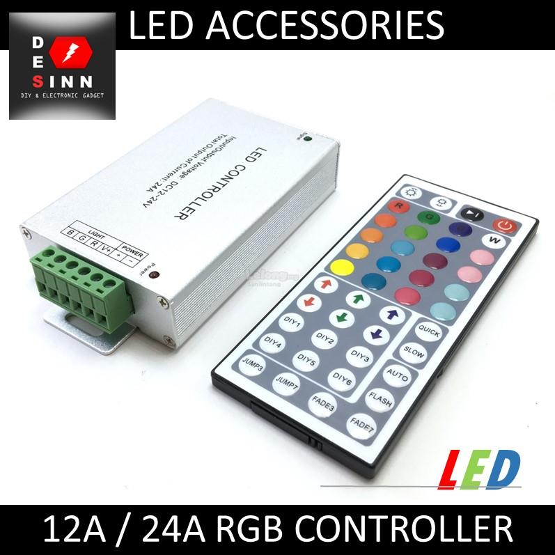 12A / 24A RGB LED STRIP CONTROLLER 12V 24V