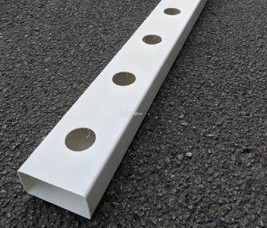 12hole of 2meter Hydroponic NFT Rectangular Pipe round hole Hidroponik