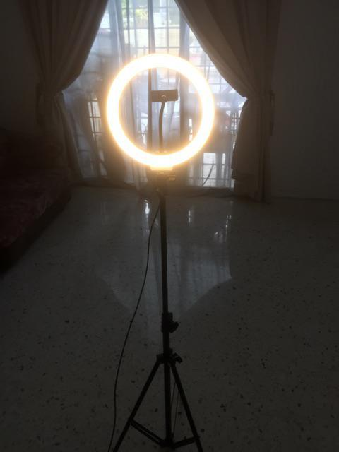 12inch 26cm LED Selfie Ring Light Dimmable Video Live Studio Light