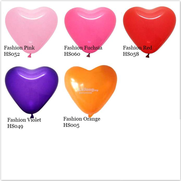 12inch Atex Heart Shaped Quality Latex Balloons (12pieces)