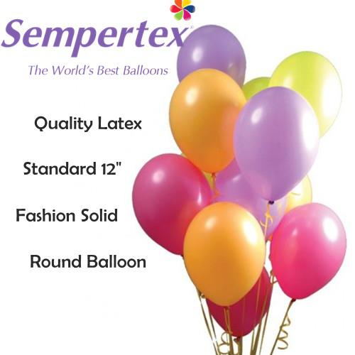 12inch Sempertex Fashion/Pastel Solid Round Balloons (12pieces)