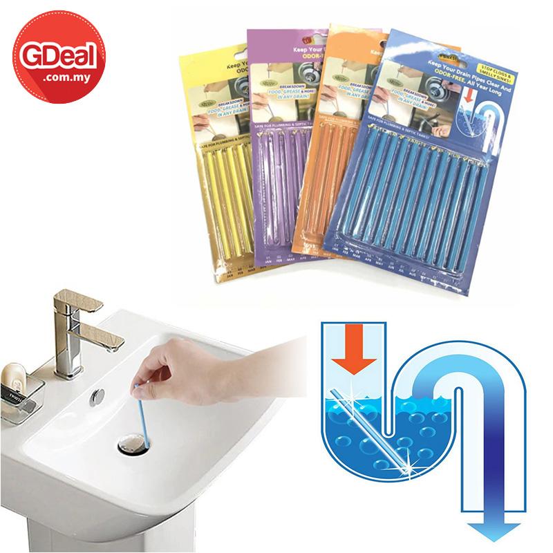 Astounding 12Pcs Drain Cleaning Stick Odor Remover Kitchen Bath Tub Sink Download Free Architecture Designs Embacsunscenecom