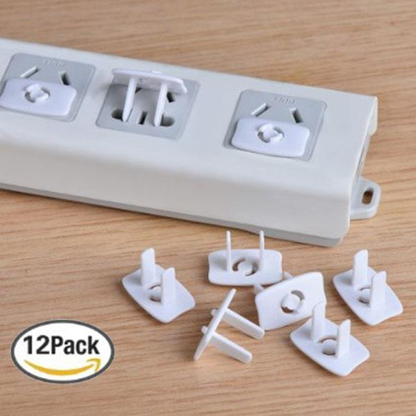 12pcs/lot Electrical Baby Safety Outlet Caps Covers Plugs - White