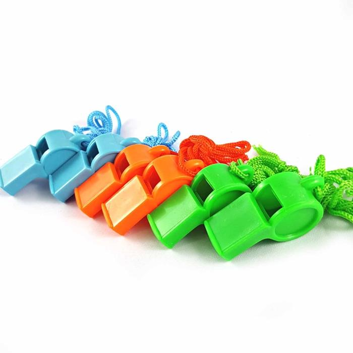 12Pcs Loudly Whistle Plastic Whistle Professional Soccer Referee Whist