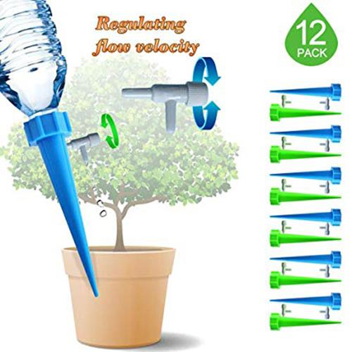 12PCS WATERING DEVICE PLANT SELF-WATERING AUTO DRIP IRRIGATION SYSTEM