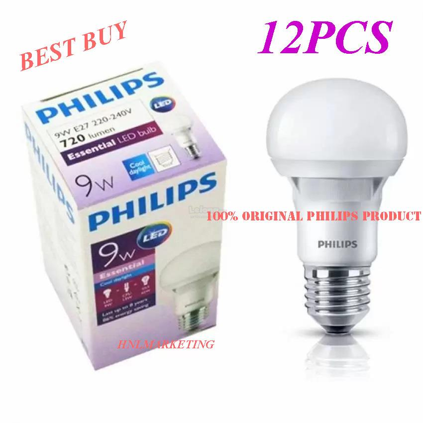 12PCS X PHILIPS 9W ESENTIAL LED BULB (end 4/20/2019 6:15 PM)