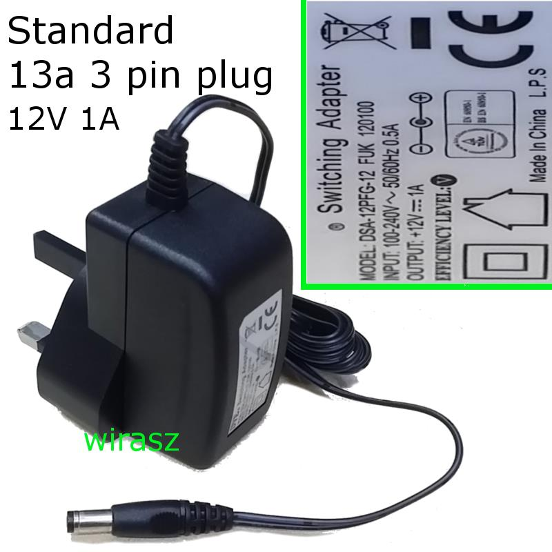 12V 1A AC to DC Power Supply / Adapter / Converter CCTV MODEM etc