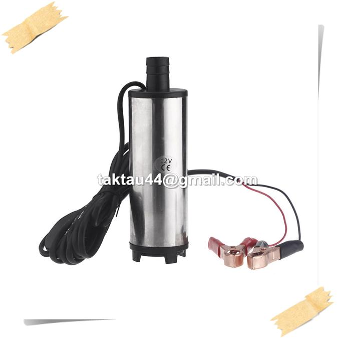 12V 24V DC Diesel Fuel Water Oil Car Camping Submersible Transfer Pump