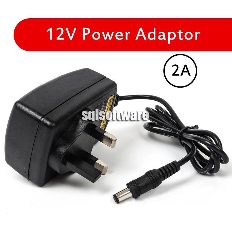 12v 2A Good Quality Power Supply Adaptor UK plug Supply 2Amp 2000mA