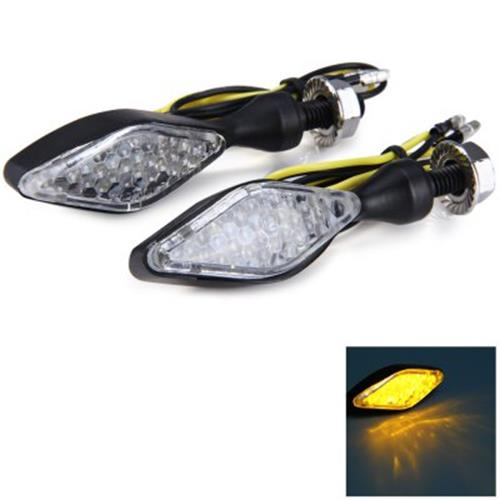 12V 2PCS 12 LEDS ARROW SHAPED STALK TURN SIGNAL LIGHT BULB FOR MOTORCY
