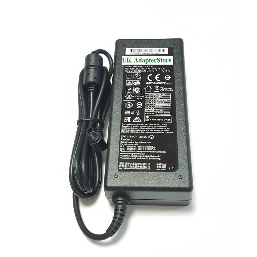 12V 3A (36W) 6.5 x 4.4mm Notebook Power Charger Adaptor for LG Monitor E2351 E