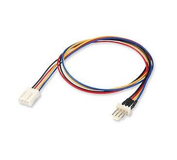 12V 4pin Male to 4-pin Female PC Fan Power Extension Cable
