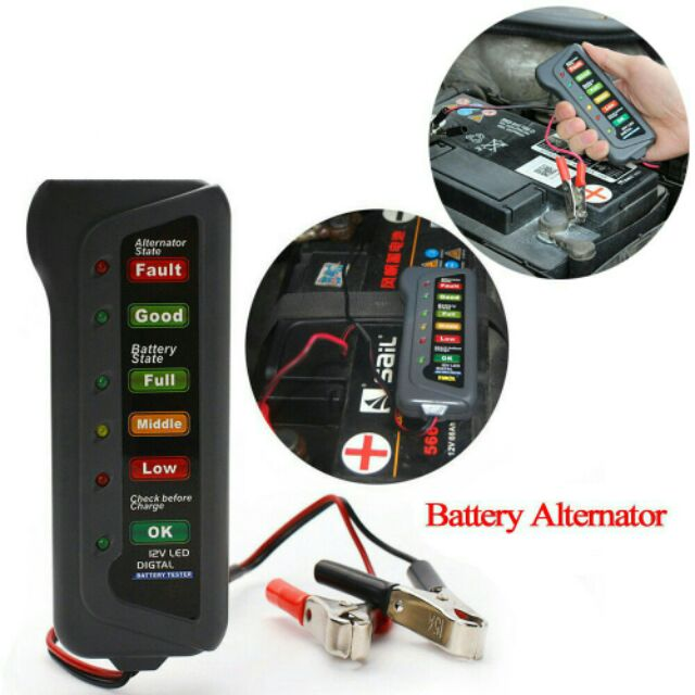 12v Car Motorcycle Battery Alternator Tester