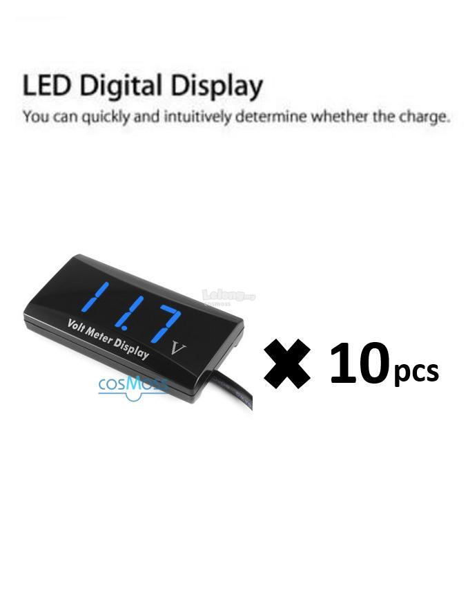12V D1 SPEC Digital LED Display Voltmeter Blue x 10pcs