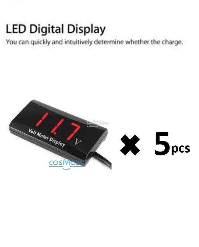 12V D1 SPEC Digital LED Display Voltmeter Blue x 5pcs